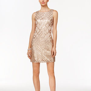 Vince Camuto Champagne Sequin Cocktail Dress